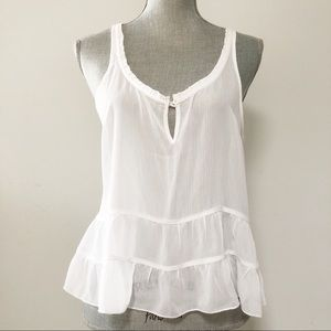 Abercrombie and Fitch sheer chiffon ruffle top